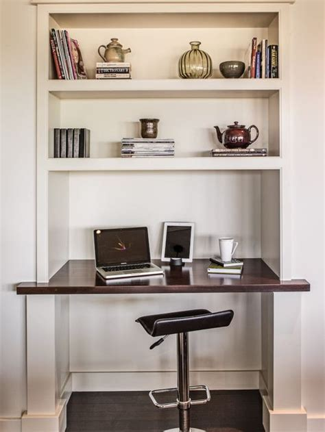 small built in desk built in computer desk and shelves houzz