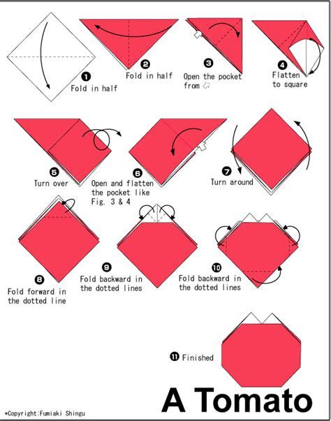 origami tomato diagram