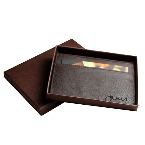 Personalised Leather Card Holder By Nv Calcutta