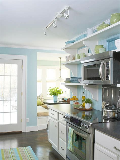 ideas for small country kitchens designs color blue small a small cottage kitchen makeover in new york hooked on