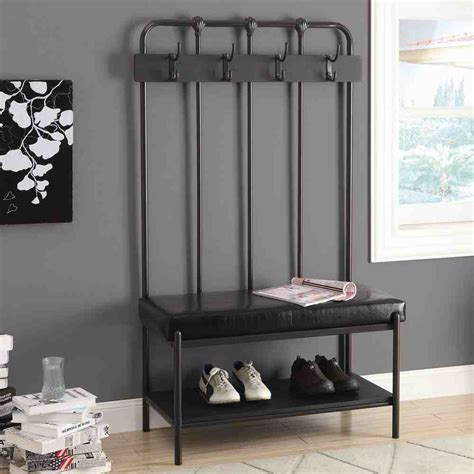 entry way storage entryway storage bench with hooks home furniture design