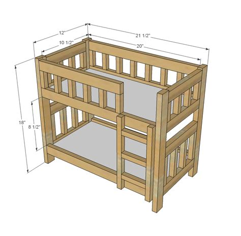 free woodworking plans for beds woodwork american doll bunk bed plans free pdf plans
