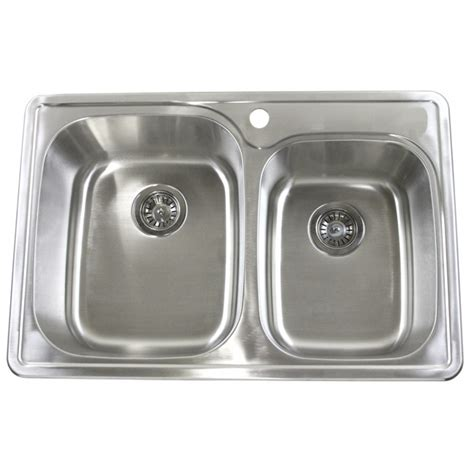 best stainless steel kitchen sinks reviews 33 inch top mount drop in stainless steel bowl