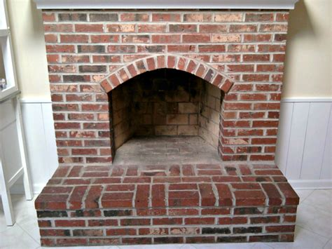 How To Paint An Old Brick Fireplace brick fireplace painting process brick anew blog