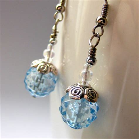 handmade beaded earrings handmade beaded earrings blue twinkle gilliauna