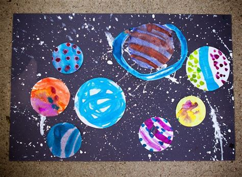 solar system arts and crafts for galaxy crafts preschoolers