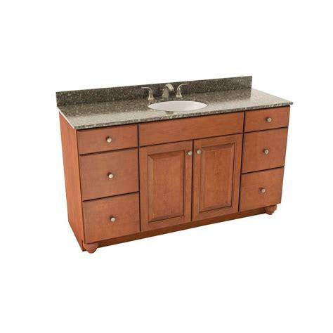 american woodwork american woodmark charlottesville 61 in vanity in cognac