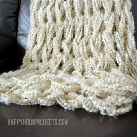 how to end a knitted blanket arm knitted blanket happy hour projects