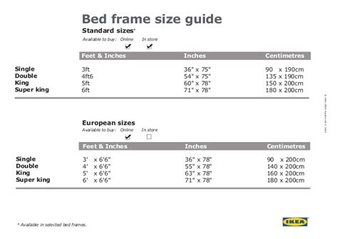 standard size bed frame dimensions ikea bed frame size guide