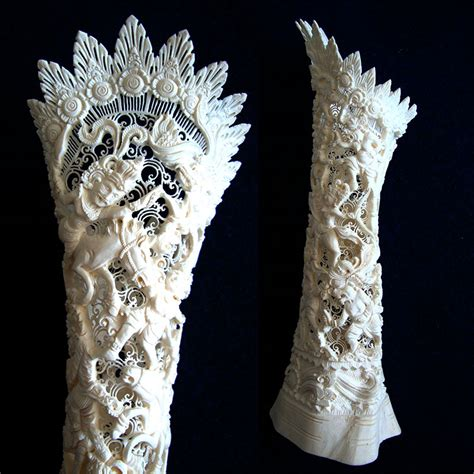 carved bone carving of bones