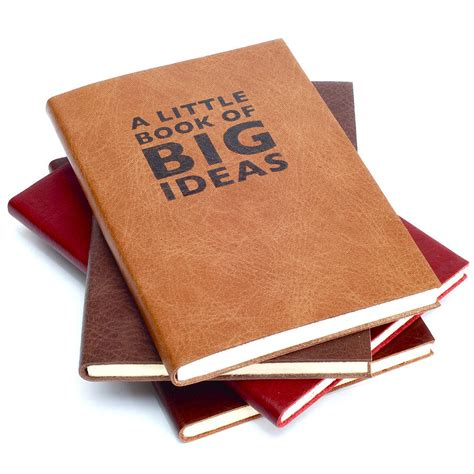 picture book ideas a book of big ideas leather notebook by