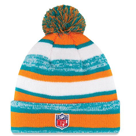 miami dolphins knit hat miami dolphins nfl official sideline sport knit hat