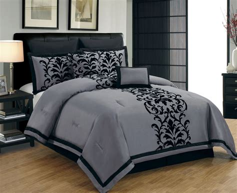 grey blue comforter set blue and grey bedding dawson black and gray
