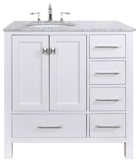 Overstock Bathroom Vanities by Malibu Pure White Single Sink 36 Inch Bathroom Vanity