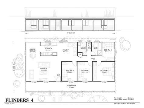 simple four bedroom house plans 4 bedroom metal home floor
