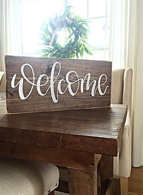 wooden signs home decor 17 best ideas about welcome signs on wooden