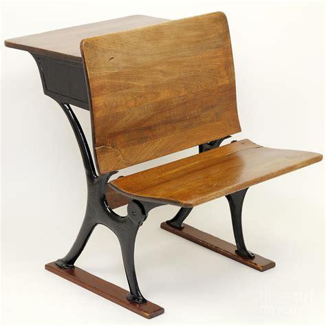 antique school desk antique school desk chair combination photograph by
