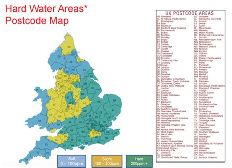 water uk water map softeners