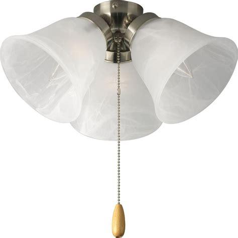 home depot ceiling fan lights progress lighting airpro 3 light brushed nickel ceiling
