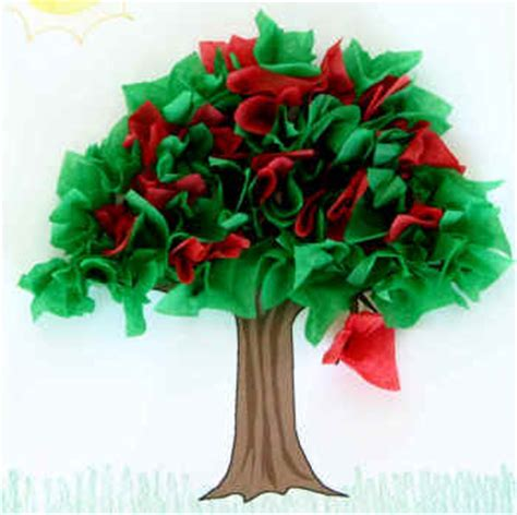 paper craft tree summer tree paper craft