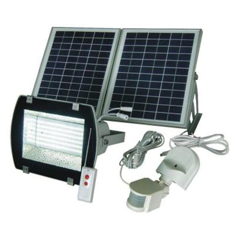 home depot solar flood lights solar goes green industrial solar 50 ft range white grey