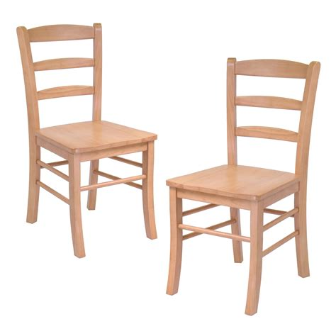 kitchen and dining room chairs winsome dining wood side chairs in light oak finish