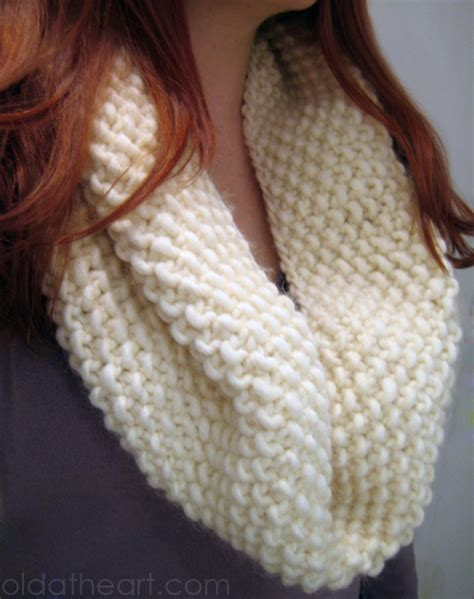 how to knit easy easy knit cowl scarf at
