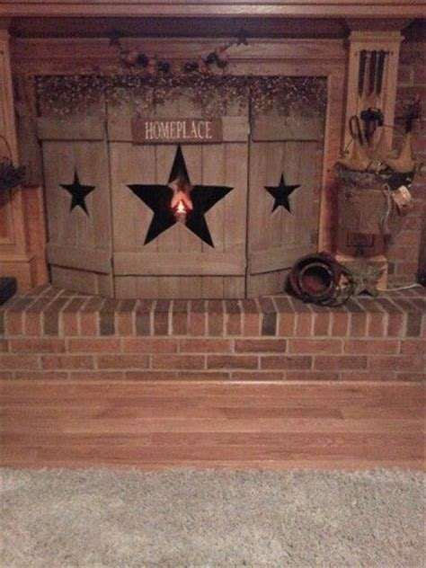 country crafts to make primitive wooden fireplace screen diy primitive crafts