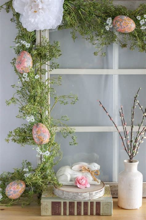 make your own decoupage diy decoupage easter egg garland archives the casual