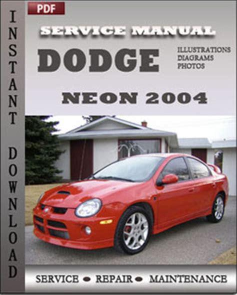 car repair manuals online pdf 1996 dodge neon regenerative braking dodge neon 2004 service guide servicerepairmanualdownload com