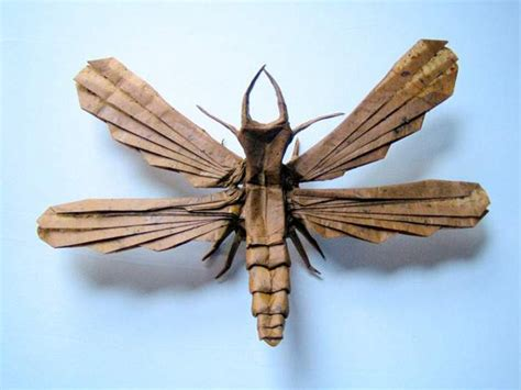 origami insect insect origami the awesomer