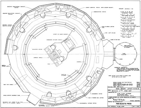 blueprint layout u s s enterprise bridge blueprints revised