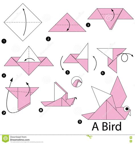 how to make a bird with origami paper step by step how to make origami a bird