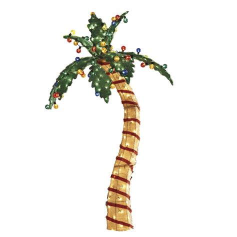 palm tree decorations shop living 1 6 ft palm tree outdoor