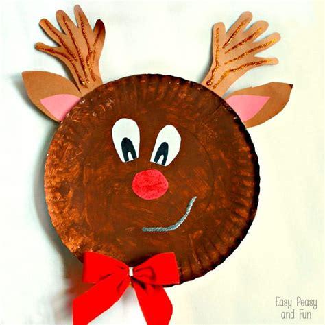 reindeer paper craft rudolph reindeer paper plate craft easy peasy and
