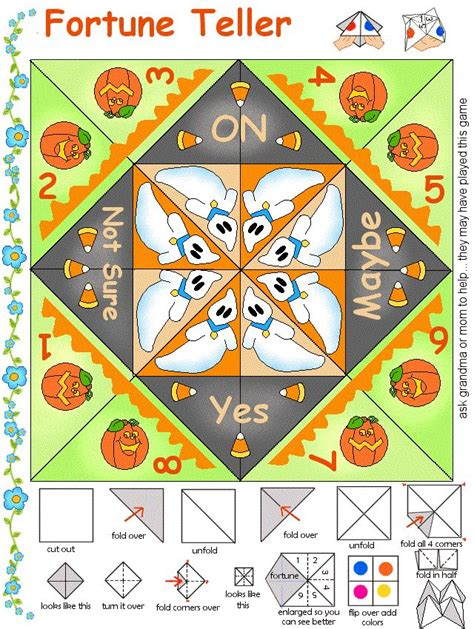 fortune teller paper craft 17 best images about paper for on