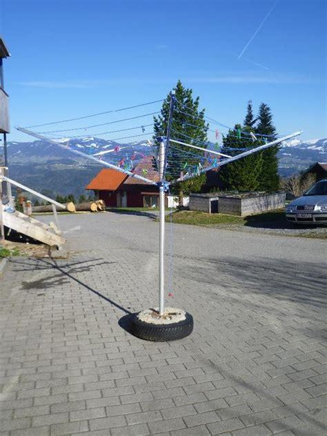 Wäschespinne Für Balkon by W 228 Schespinne Mit Betonhalter 187 Sonstiges F 252 R Den Garten