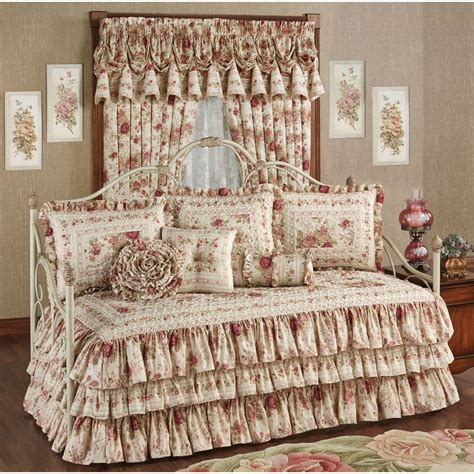 ruffled bedding sets heirloom floral ruffled daybed bedding set