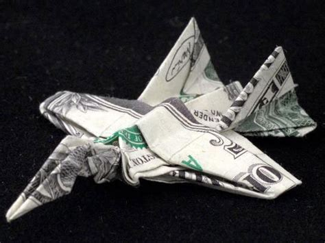 fighter jet origami amazing origami using only dollar bills 171 twistedsifter