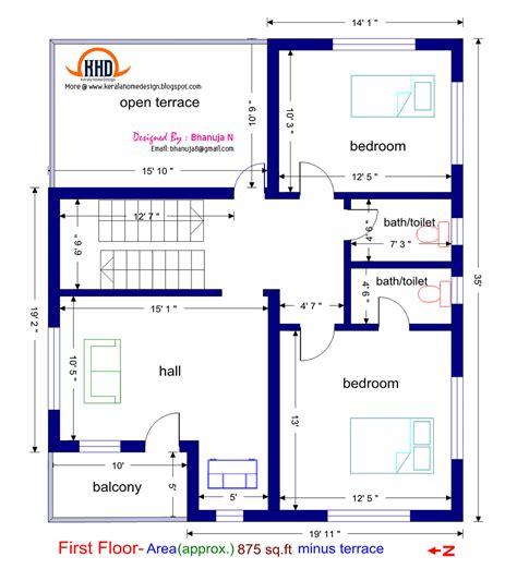 www floorplan floor plan and elevation of 1925 sq villa kerala home design and floor plans