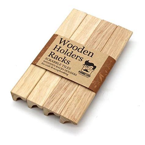 scrabble racks for sale wooden rack holder scrabble tiles mah jong set of 4 toys