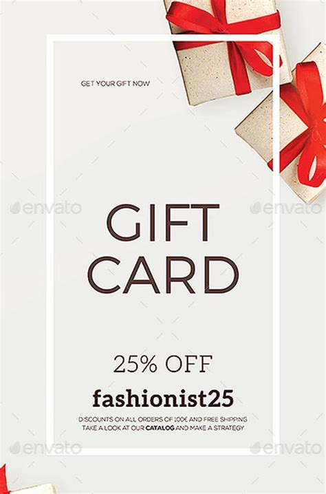 gift specials special coupon gift card flyer template flyer