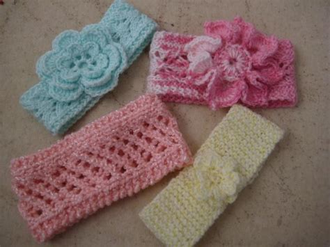 knit baby four new knit baby headbands by myrtie craftsy
