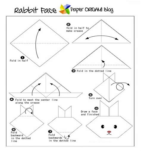 how to make a origami bunny animals origami rabbit paper origami guide
