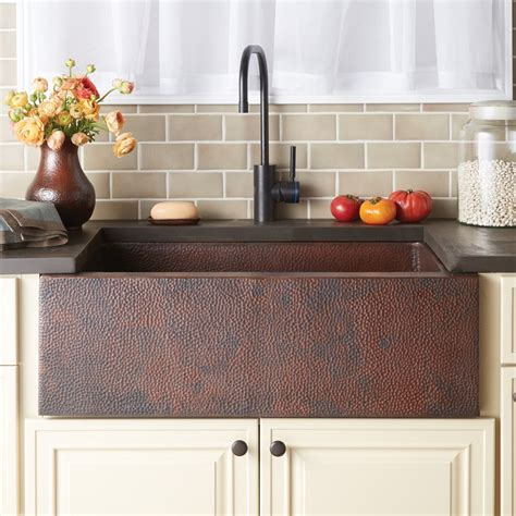 farmhouse copper kitchen sink copper farmhouse kitchen sink trails