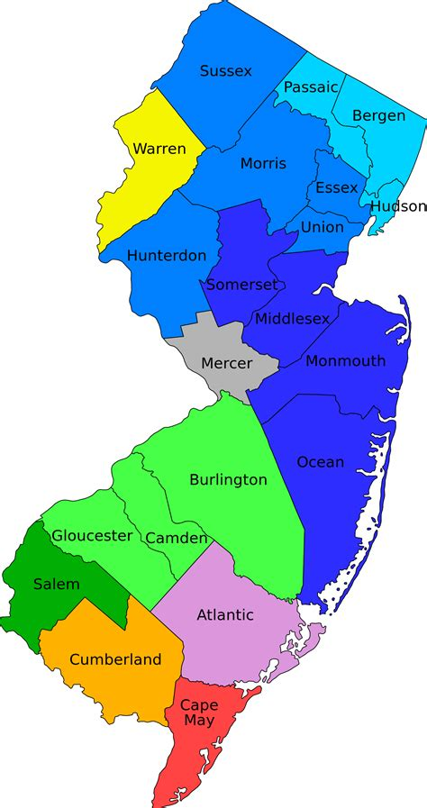 in new jersey file new jersey counties by metro area labeled svg