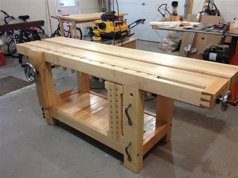 best woodworking benches review benchcrafted split top roubo bench makers package