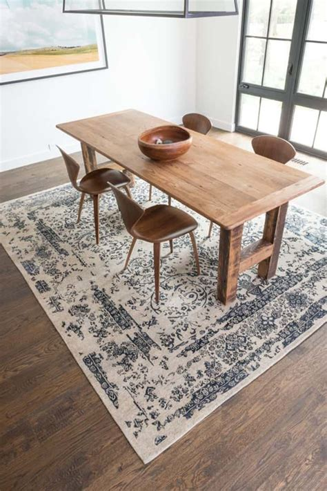 how to a rug for your dining room