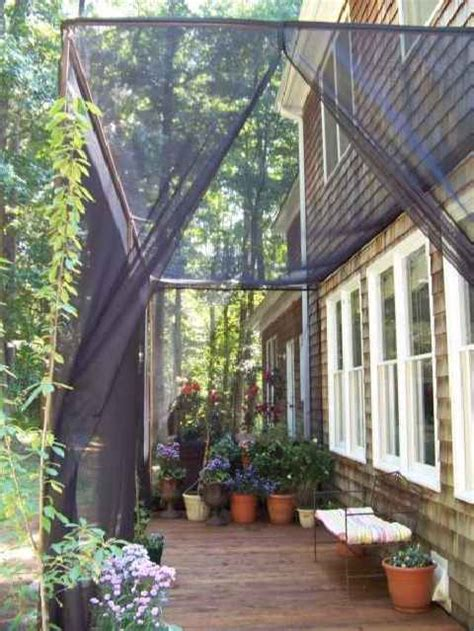 mosquito netting curtains for a diy screen patio i want
