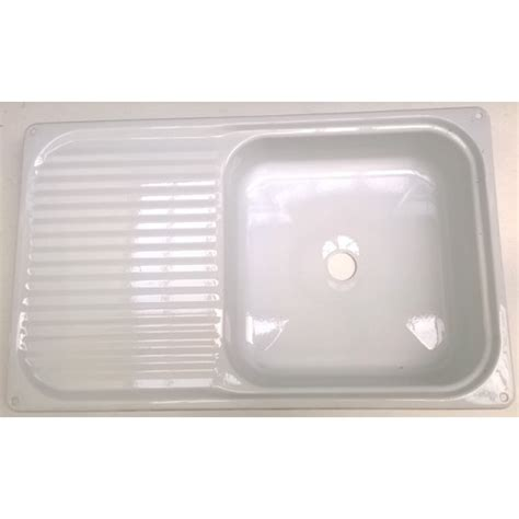 white enamel kitchen sinks enamel sink with drainer white